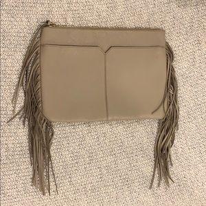 J Crew Leather Tassel Clutch